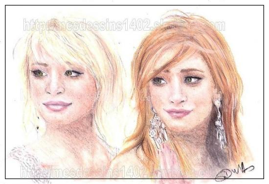Ashley Olsen, Mary-Kate Olsen par mein-dessins1402